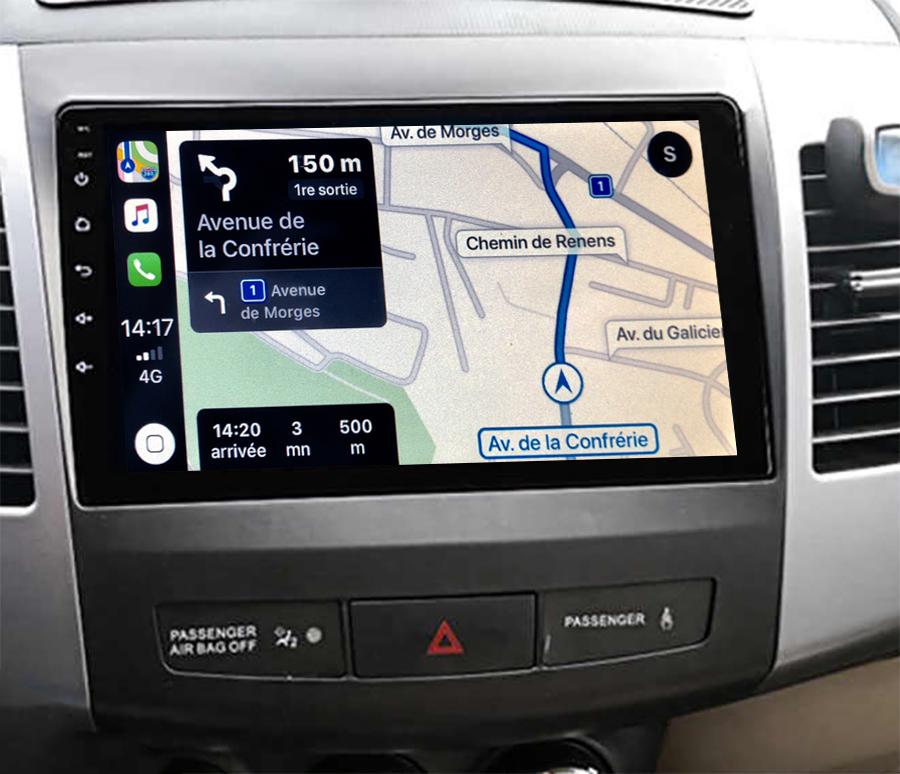 Autoradio GPS à écran tactile QLED Android 11.0 et Apple Carplay sans fil Citroën C-Crosser