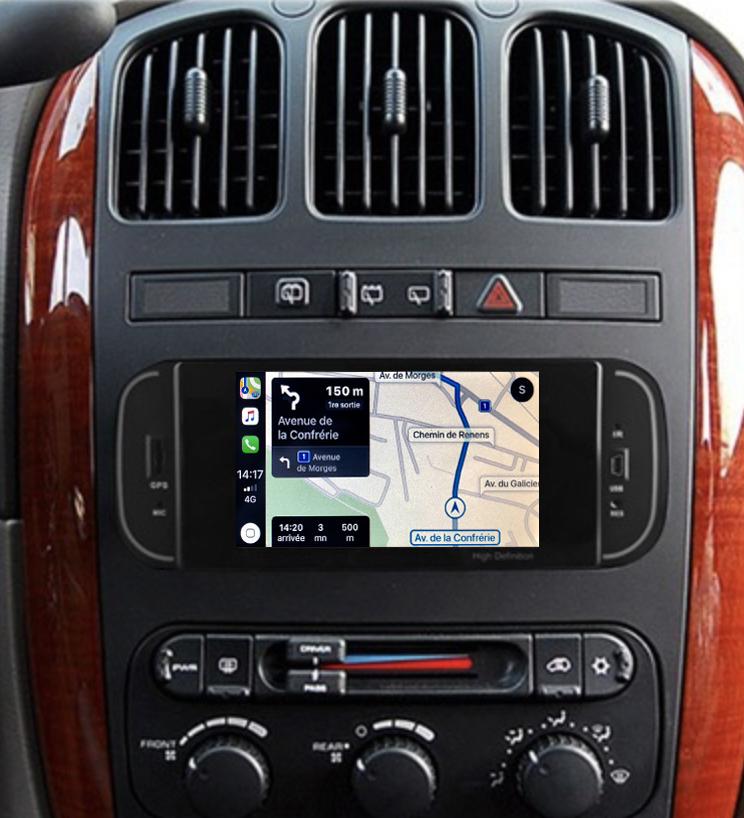 Autoradio tactile GPS Android 11.0 et Bluetooth Dodge Neon, Dakota et RAM Pickup