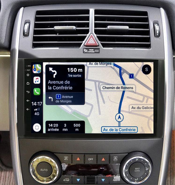 Autoradio GPS à écran tactile QLED Android 11.0 et Apple Carplay Mercedes Vito, Viano, Mercedes Classe A et Classe B