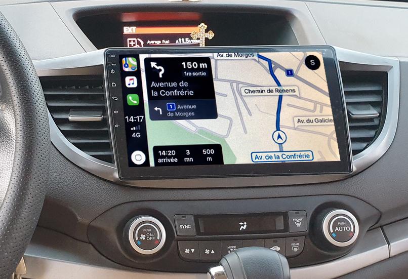 Autoradio GPS à écran tactile QLED Android 11.0 et Apple Carplay sans fil Honda CR-V de 2012 à 2016