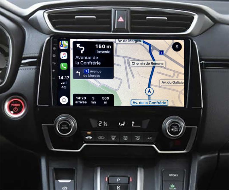 Autoradio GPS à écran tactile QLED Android 11.0 et Apple Carplay sans fil Honda CR-V depuis 2017