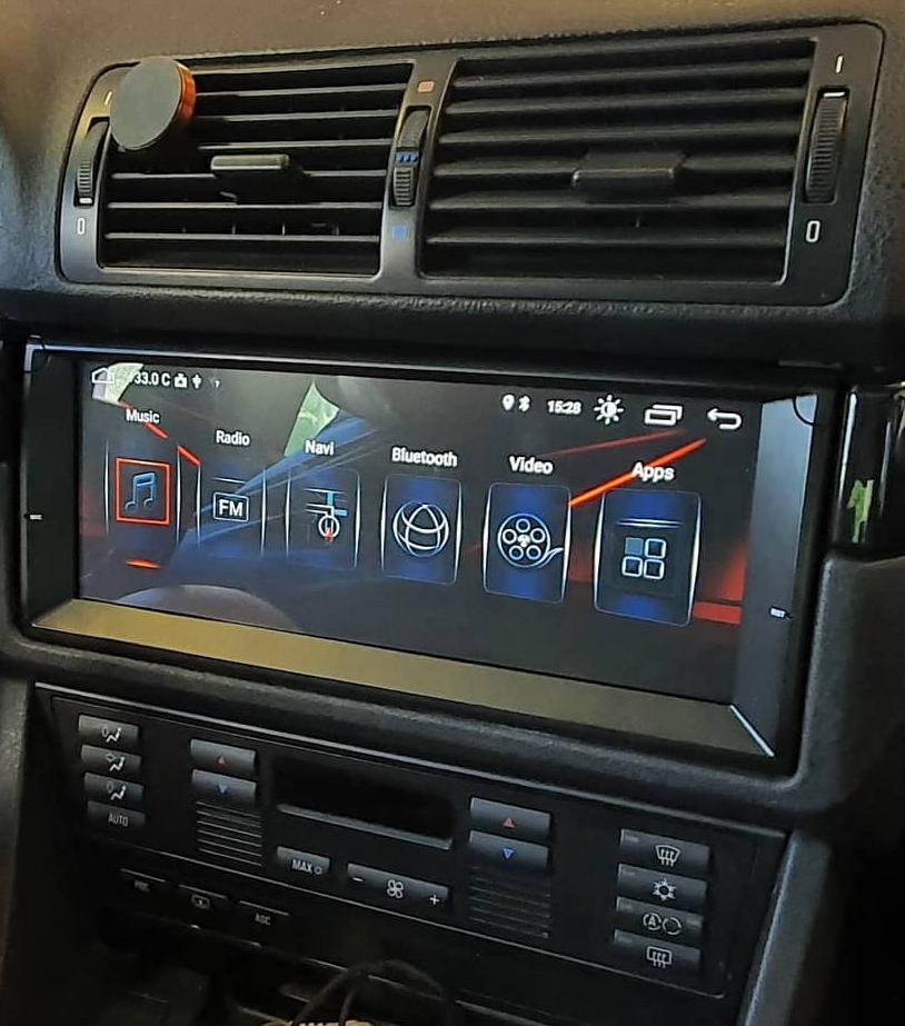 Autoradio tactile GPS Android 9.0 et Apple Carplay BMW X5 E53 et BMW Série 5 E39