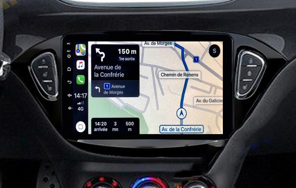 Autoradio tactile GPS Android 11.0 et Apple Carplay USB Opel Corsa et Adam de 2013 à 2019