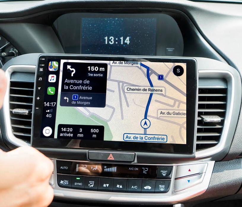 Autoradio tactile GPS Android 11.0 et Bluetooth Honda Accord de 2013 à 2019