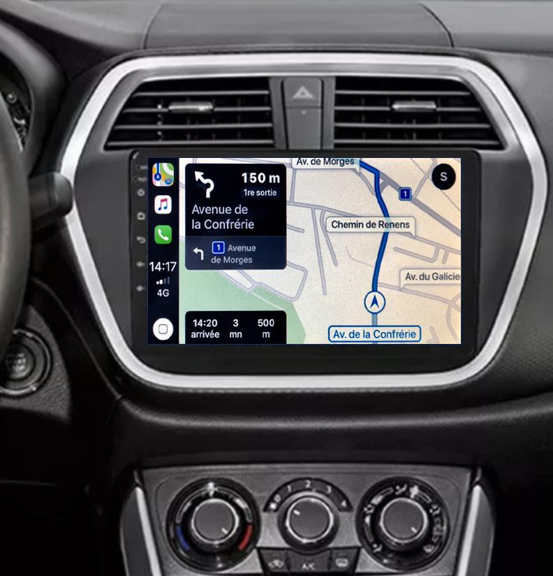 Autoradio GPS à écran tactile QLED Android 11.0 et Apple Carplay sans fil Suzuki SX4 S-Cross depuis 2013