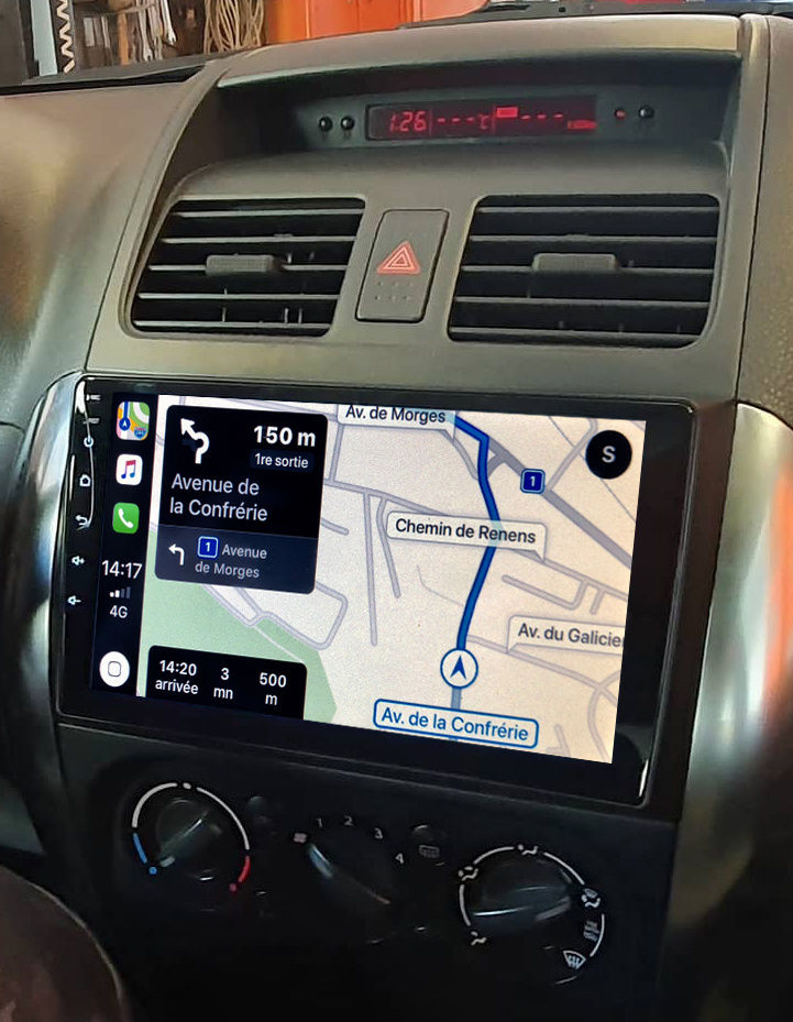 Autoradio GPS à écran tactile QLED Android 11.0 et Apple Carplay sans fil Suzuki SX4 de 2006 à 2013