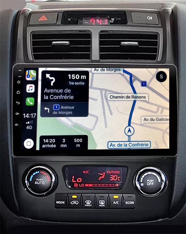 Autoradio GPS à écran tactile QLED Android 11.0 et Apple Carplay sans fil Kia Sportage de 2004 à 2010