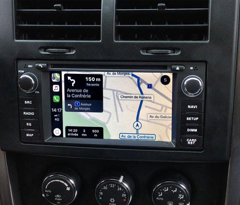 Autoradio tactile GPS Android 11.0 et Apple Carplay Dodge Avenger, Charger, Caliber, Dakota, Durango, Journey, Nitro et Dodge RAM