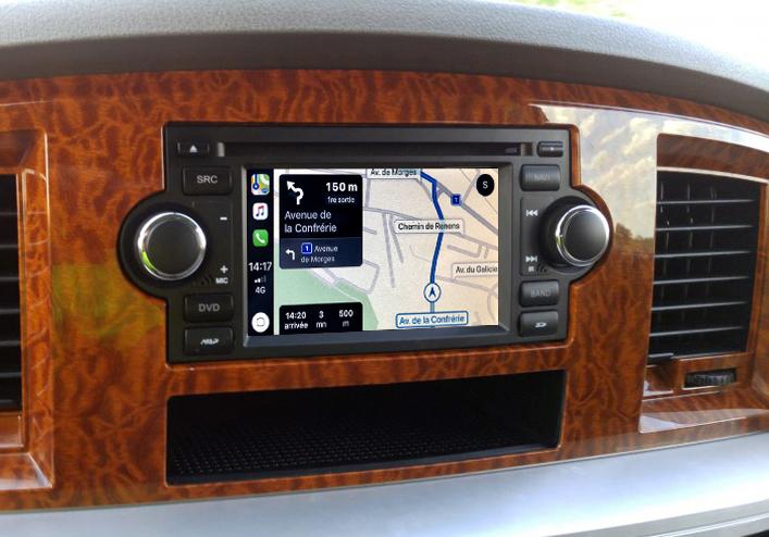 Autoradio tactile GPS Android 11.0 et Bluetooth Dodge Charger, Caliber, Dakota, Durango et Dodge RAM