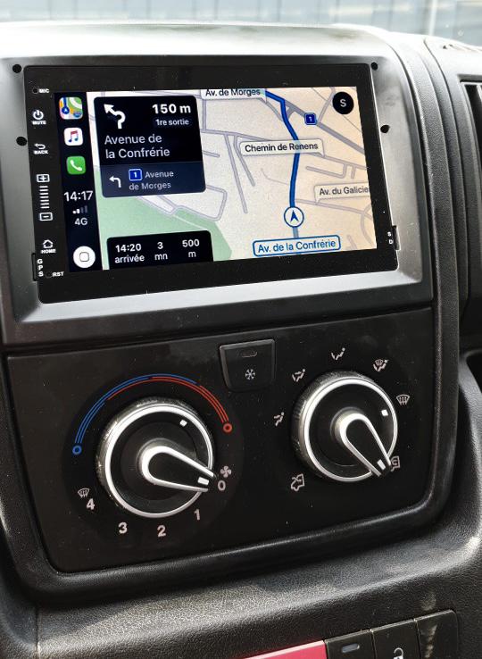 Autoradio tactile GPS et Apple Carplay Citroën Jumper de 2011 à 2014