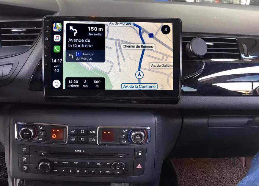 Autoradio GPS à écran tactile QLED Android 11.0 et Apple Carplay Citroën C5 de 2008 à 2017
