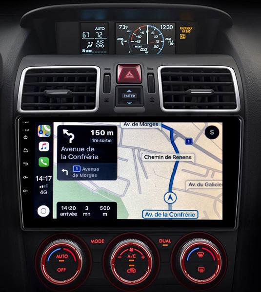 Autoradio GPS à écran tactile QLED Android 11.0 et Apple Carplay sans fil Subaru Forester de 2013 à 2018