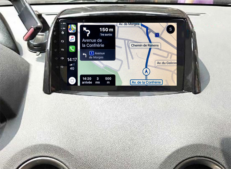 Autoradio GPS à écran tactile QLED Android 11.0 et Apple Carplay Renault Koleos de 2008 à 2016
