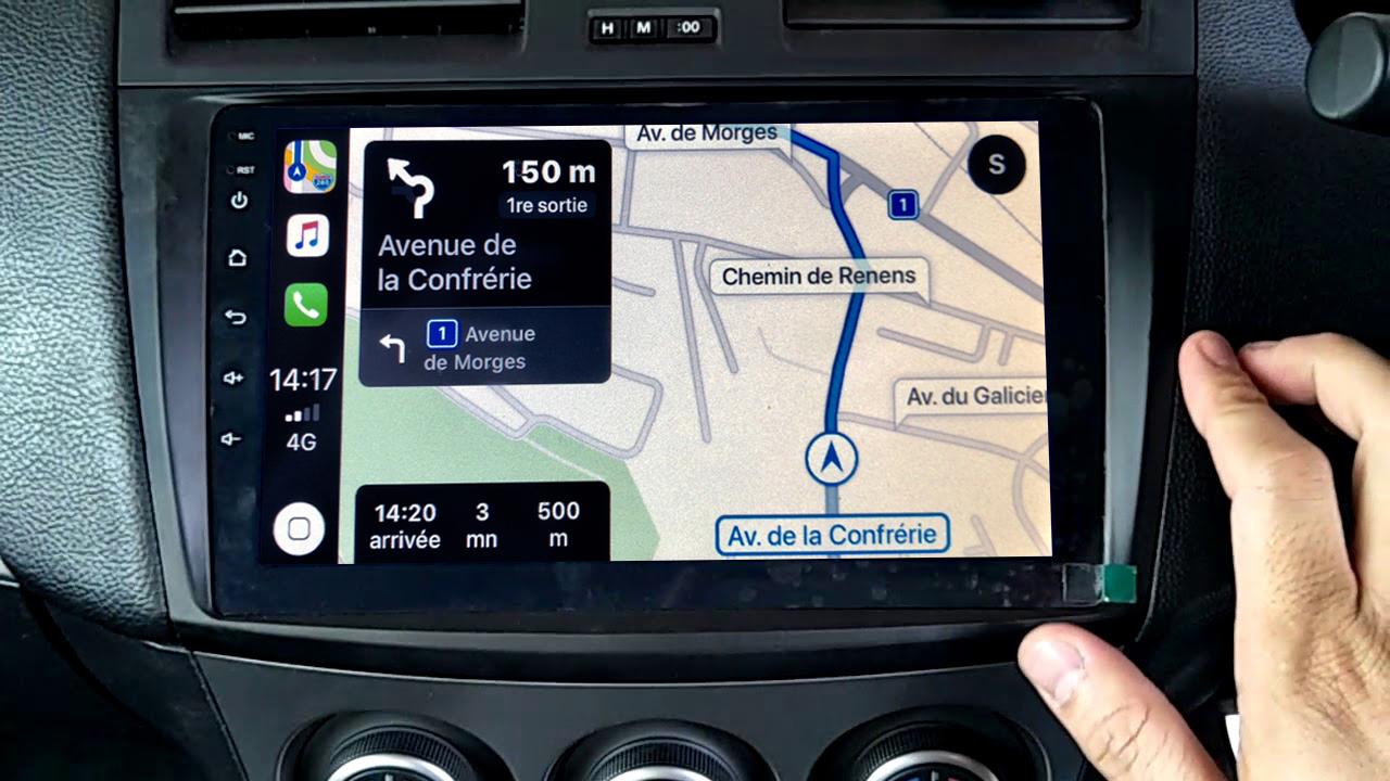Autoradio GPS à écran tactile QLED Android 11.0 et Apple Carplay sans fil Mazda 3 de 2009 à 10/2013