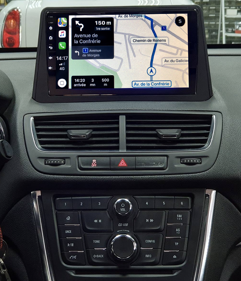 Autoradio tactile GPS Android 11.0 et Apple Carplay Opel Mokka de 10/2012 à 06/2016