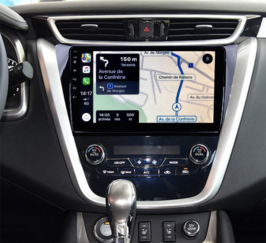 Autoradio GPS à écran tactile QLED Android 11.0 et Apple Carplay sans fil Nissan Murano depuis 2015