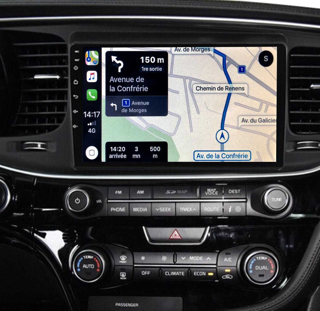Autoradio GPS à écran tactile QLED Android 11.0 et Apple Carplay Kia Optima de 2014 à 2015