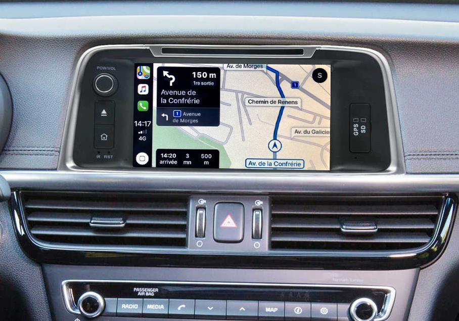 Autoradio tactile GPS Android 10.0 et Bluetooth Kia Optima de 2015 à 2018