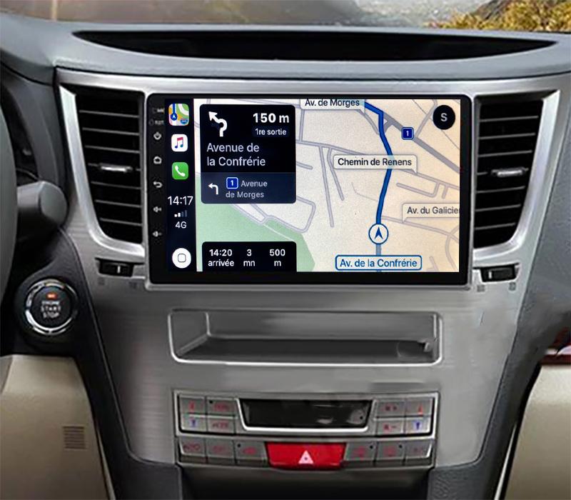 Autoradio GPS à écran tactile QLED Android 11.0 et Apple Carplay Subaru Outback de 2009 à 2014