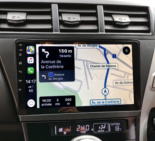 Autoradio GPS à écran tactile QLED Android 11.0 et Apple Carplay sans fil Toyota Prius de 06/2012 à 2015