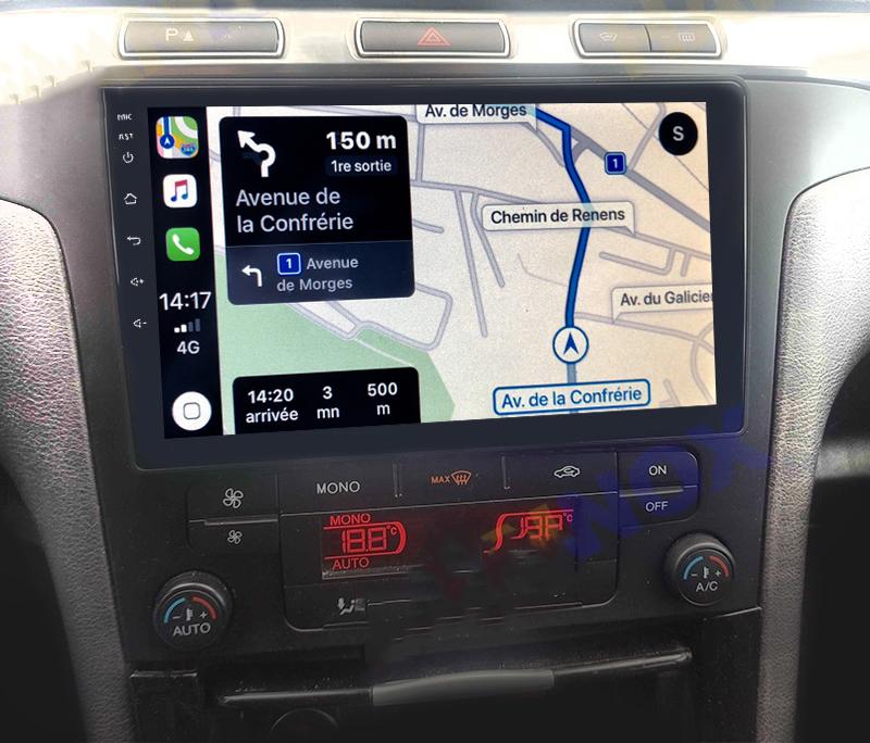 Autoradio GPS à écran tactile QLED Android 11.0 et Apple Carplay sans fil Ford S-Max de 2006 à 2015
