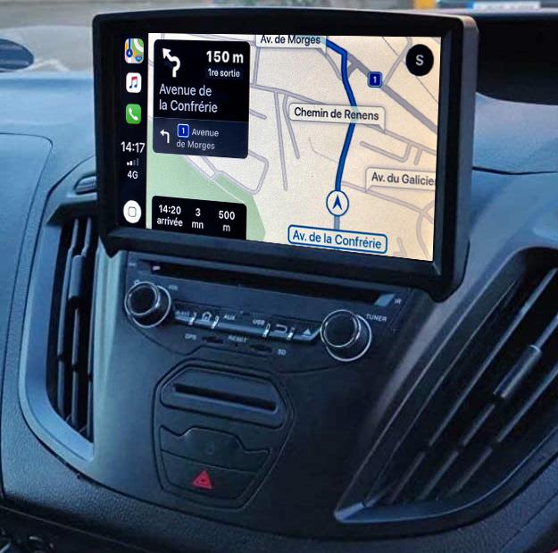 Autoradio tactile GPS Android 11.0 et Apple CarPlay USB Ford Transit de 2015 à 2019