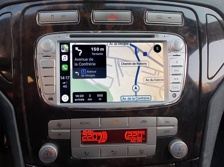 Autoradio tactile GPS Android 11.0 et Apple Carplay Ford Focus, C-Max, S-Max Galaxy et Mondeo