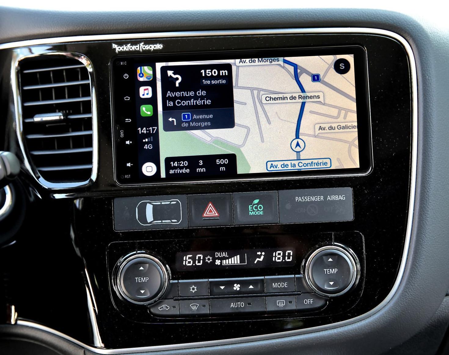 Autoradio tactile GPS Android 10.0 et Apple Carplay Mitsubishi Outlander de 2012 à 2021