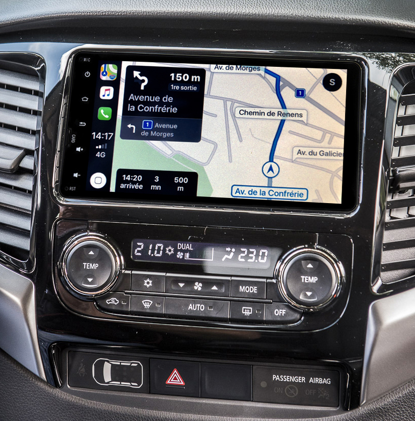 Autoradio tactile GPS Android 10.0 et Apple Carplay Mitsubishi Pajero de 2015 à 2018
