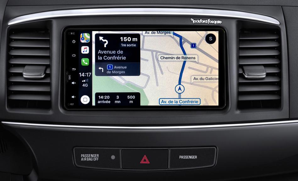 Autoradio tactile GPS Android 10.0 et Apple Carplay Mitsubishi Lancer Evolution X de 2012 à 2015