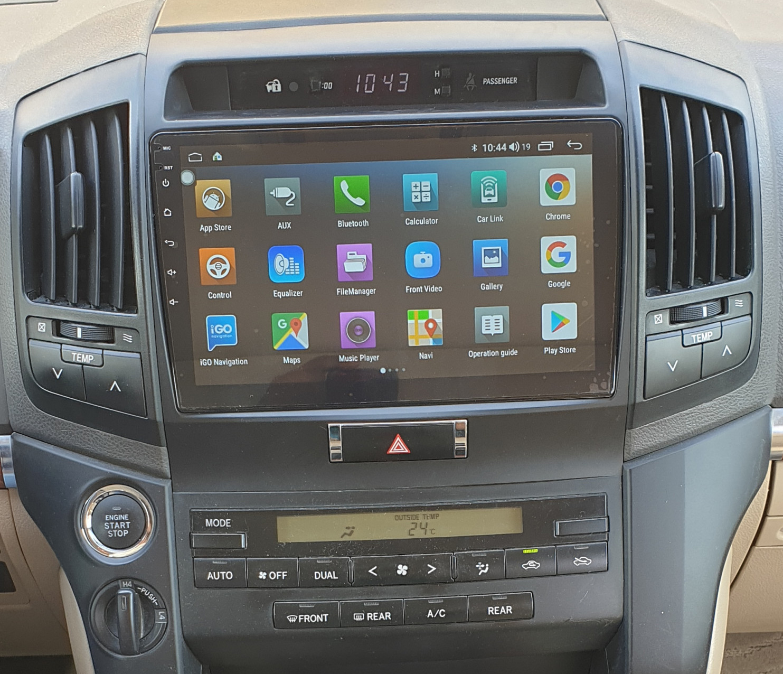 Autoradio GPS à écran tactile QLED Android 11.0 et Apple Carplay sans fil Toyota Land Cruiser 200 de 2008 à 2015
