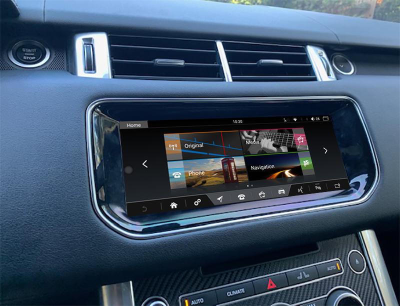 Autoradio tactile GPS Android 10.0 et Apple Carplay Range Rover Vogue L405 et Range Rover Sport de 2013 à 2018