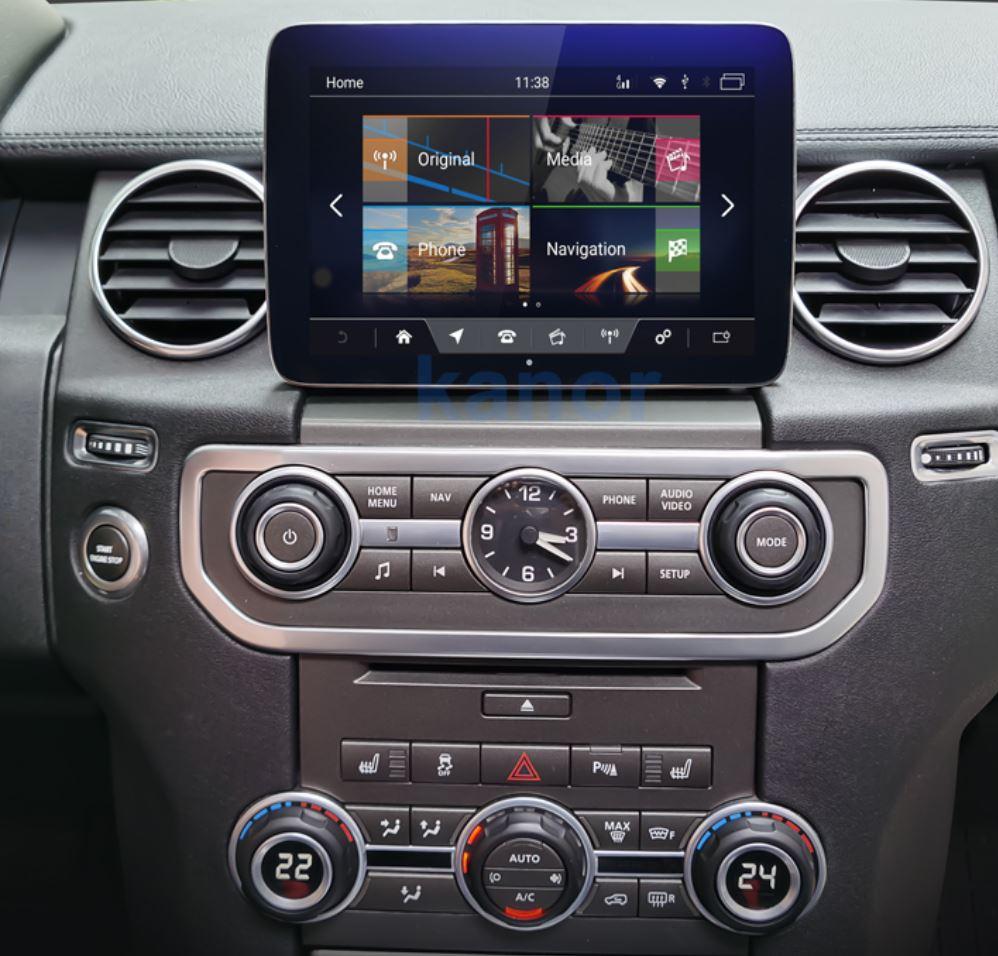 Autoradio tactile GPS Android 10.0 et Apple Carplay Land Rover Discovery IV de 2013 à 2017
