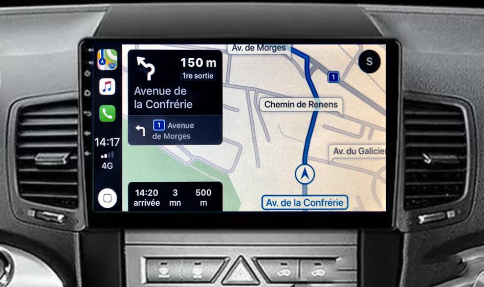 Autoradio GPS à écran tactile QLED Android 11.0 et Apple Carplay sans fil Kia Sorento de 04/2009 à 2012