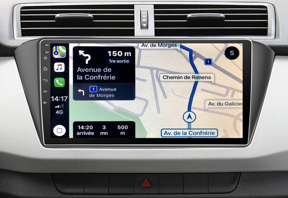Autoradio GPS à écran tactile QLED Android 11.0 et Apple Carplay Skoda Fabia de 2015 à 2019
