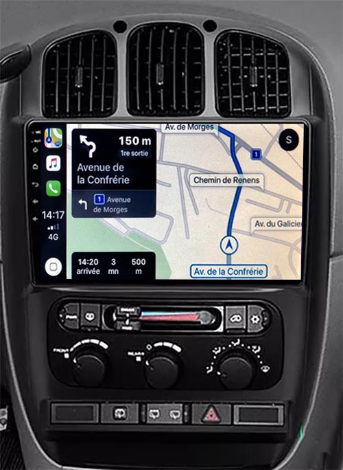 Autoradio GPS à écran tactile QLED Android 11.0 et Apple Carplay sans fil Chrysler Grand Voyager de 2006 à 2012