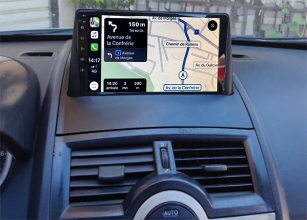 Autoradio tactile GPS Android 11.0 et Apple Carplay Renault Megane 2 et Megane II CC