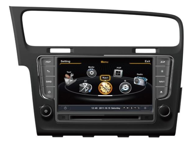 autoradio gps volkswagen golf 7 navigation gps sygic lecteur usb mp3 sd aux dvd. Black Bedroom Furniture Sets. Home Design Ideas