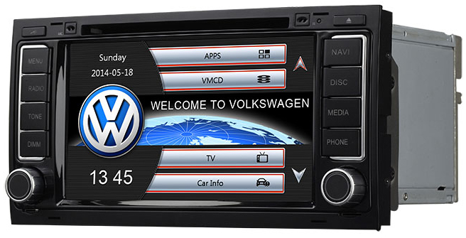 autoradio gps volkswagen t5 touareg gps dvd usb vw. Black Bedroom Furniture Sets. Home Design Ideas
