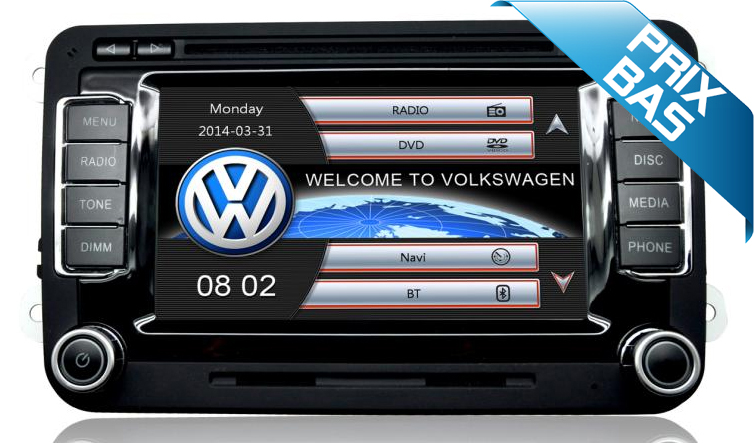autoradio gps dvd volkswagen golf scirocco autoradio volkswagen hightech privee. Black Bedroom Furniture Sets. Home Design Ideas