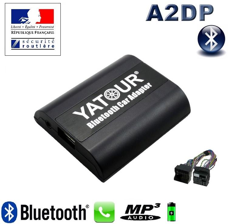 Mains Libres Bluetooth Téléphone & AD2P Pour Renault 12