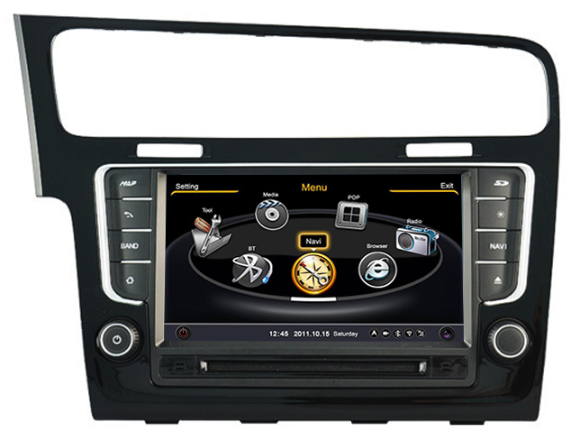 autoradio gps volkswagen golf 7 navigation gps lecteur usb mp3 sd aux dvd hightech. Black Bedroom Furniture Sets. Home Design Ideas