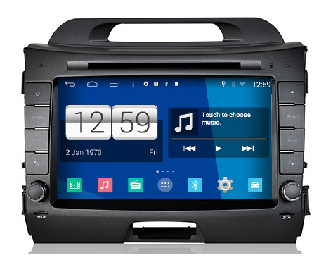 autoradio android 4 4 4 gps dvd kia sportage 2014 2015 2016 hightech. Black Bedroom Furniture Sets. Home Design Ideas