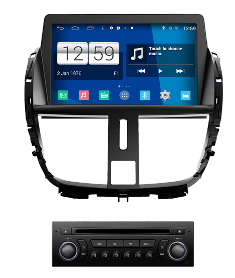 autoradio android 4 4 4 gps peugeot 207 hightech. Black Bedroom Furniture Sets. Home Design Ideas