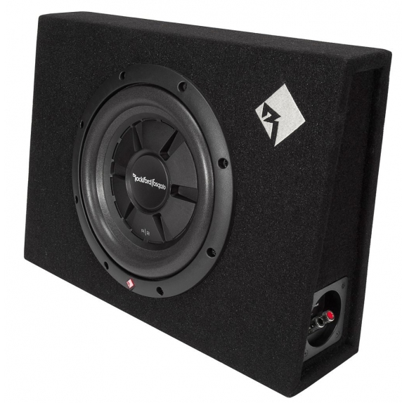 caisson clos plat actif 25 cm rockford r2s 1x10 avec subwoofer hightech privee. Black Bedroom Furniture Sets. Home Design Ideas