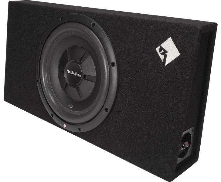 rockford r2s 1x12 caisson clos plat avec subwoofer 30 cm hightech privee. Black Bedroom Furniture Sets. Home Design Ideas