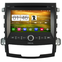 Autoradio Android écran tactile GPS DVD Ssangyong Korando de 2010 à 2013