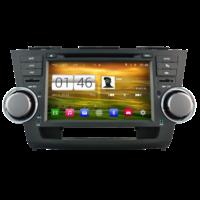 Autoradio Android 4.4.4 GPS Toyota Highlander de 2008 à 2013