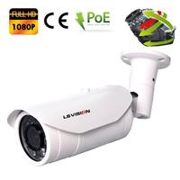 Caméra extérieure IP POE motorisée 2.8-12mm avec Zoom Optique X4 - IP66 - SONY 2.0 MegaPixels Full HD 1080P