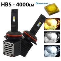 2 x Ampoules HB5 9007 - LED Puissance 40W - 4000 Lumens